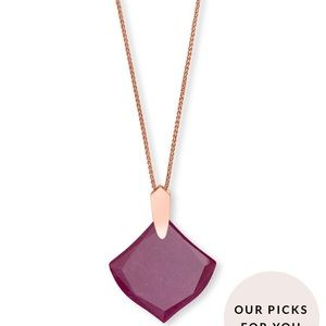 Kendra Scott Aislinn rose gold and maroon necklace